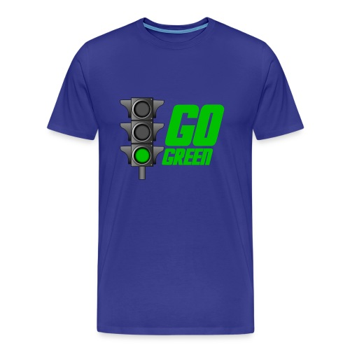 Go Green Blue - Men's Premium T-Shirt