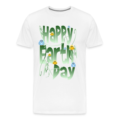 Happy Earth Day and Birds - Men's Premium T-Shirt