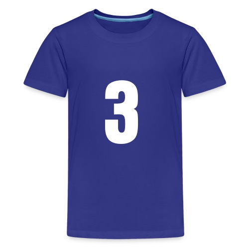 Custom Name & Age Front and Back Tee - Kids' Premium T-Shirt