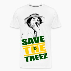 White Save The Treez T-Shirts