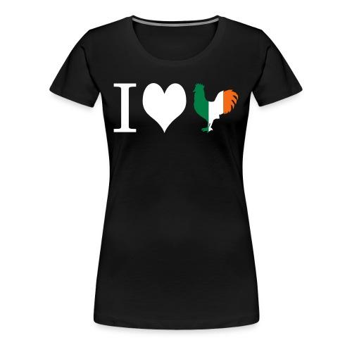 I Heart Irish Rooster - Women's Premium T-Shirt