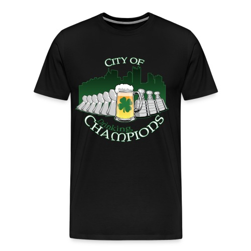 City of Drinking Champions - Pittsburgh - Black T-Shirt - Men's Premium T-Shirt