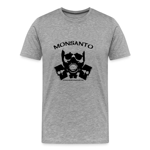 Monsato Gas Mask Heavyweight Cotton Tee Grey - Men's Premium T-Shirt