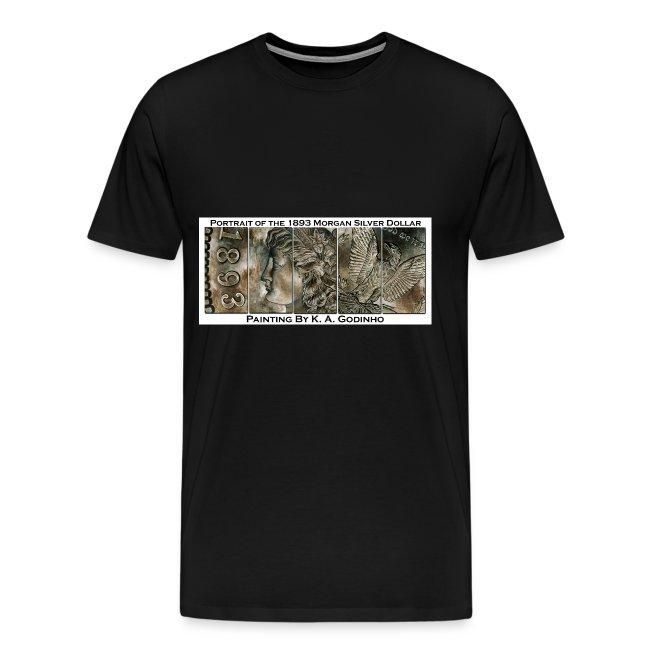 1893 Morgan Silver Dollar Men's Black T-Shirt