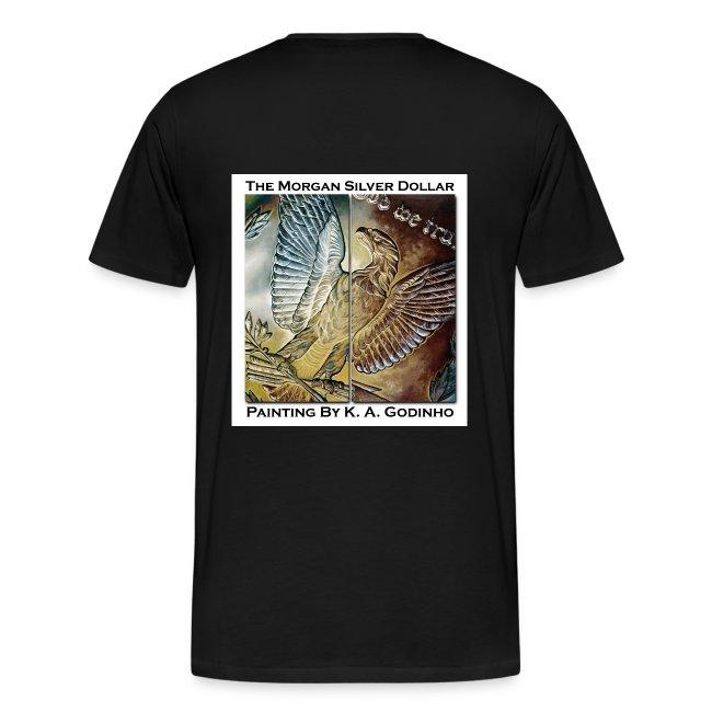 Morgan Silver Dollar Reverse Men's T-shirt front and back