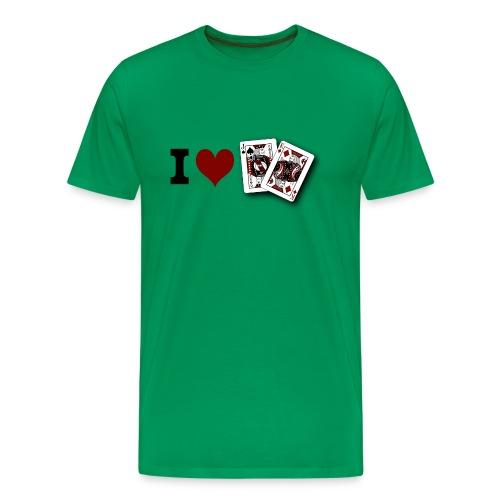 I Love Jack King off (suit) - Men's Premium T-Shirt