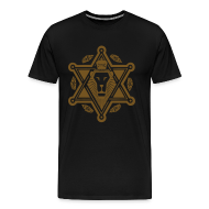 T-Shirts ~ Men's Premium T-Shirt ~ Regal Jewlion Black/ Jewgold GLITZ (menz)