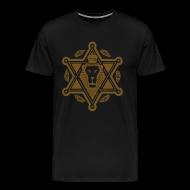 T-Shirts ~ Men's Premium T-Shirt ~ Regal Jewlion Black/ Jewgold GLITZ (menz)