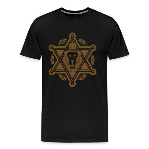 Regal Jewlion Black/ Jewgold GLITZ (menz) - Men's Premium T-Shirt