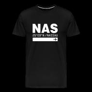 T-Shirts ~ Men's Premium T-Shirt ~ Nassau Bahamas airport code NAS black t-shirt