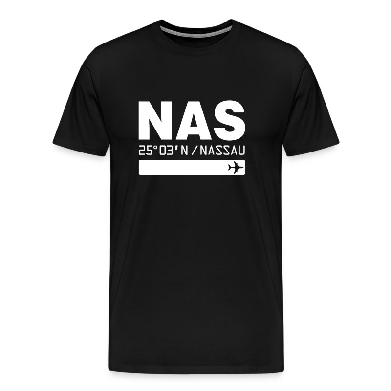 Nassau Bahamas airport code NAS black t-shirt - Men's Premium T-Shirt
