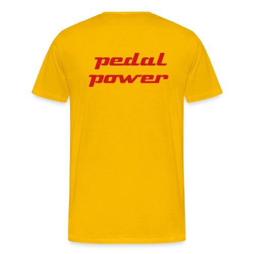 pedal power - back print - Men's Premium T-Shirt