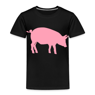 Black pig Toddler Shirts