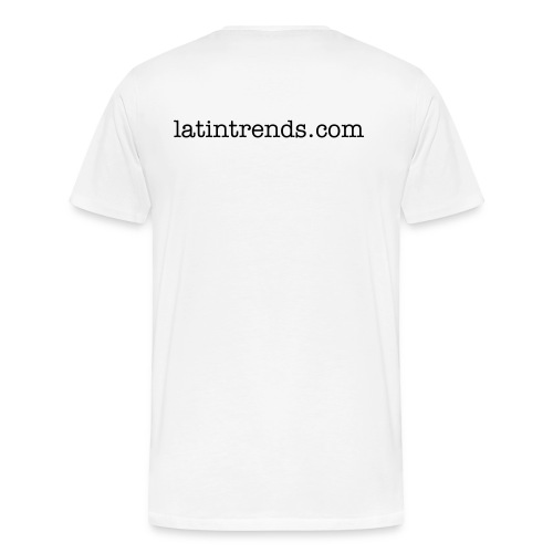 pop culture with a latin twist and back - Men's Premium T-Shirt