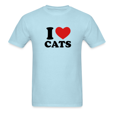 Sky blue I Love Cats T-Shirts