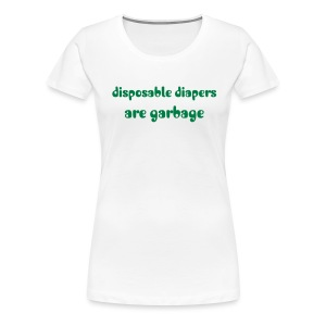 disposable diapers - Women's Premium T-Shirt