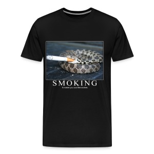 Smoking Makes you cool like Snakes - Men's Premium T-Shirt