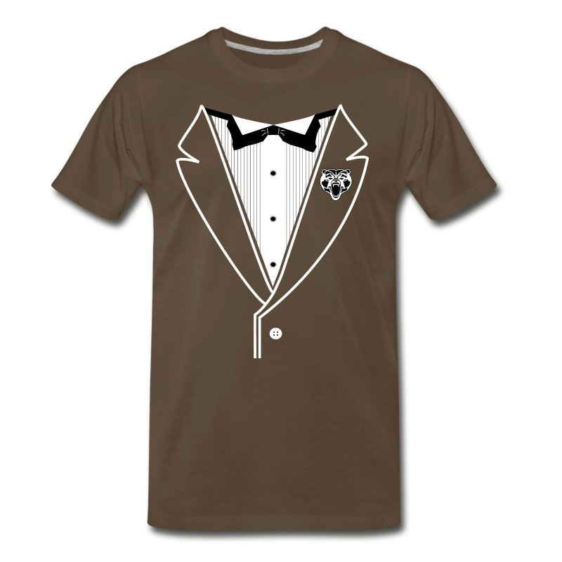BEAR TUXEDO White Lined - Men's Premium T-Shirt