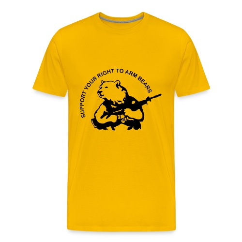 Support to arm bears - Men's Premium T-Shirt