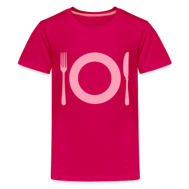Hot pink Cutlery - Plate Kids' Shirts