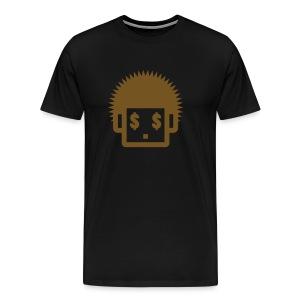 Afro Tee  - Gold Glitz  for Men - Men's Premium T-Shirt