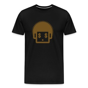 Afro Tee  - Gold Glitz  for Men - Men's Premium T-Shirt
