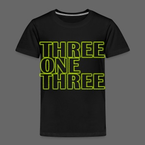 THREE ONE THREE 313 Toddler T-Shirt - Toddler Premium T-Shirt