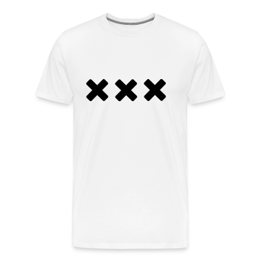 White Black Straight Edge T-Shirts