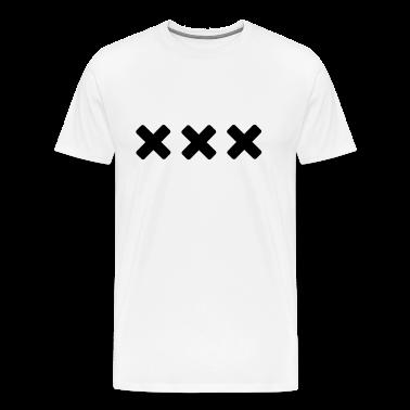 White Black Straight Edge T-Shirts