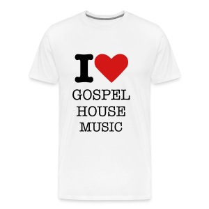 I Love Gospel House Music - Men's Premium T-Shirt