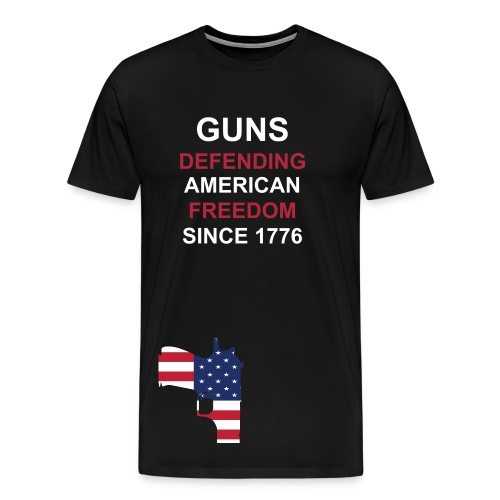 Gun Defend America Shirt - Men's Premium T-Shirt