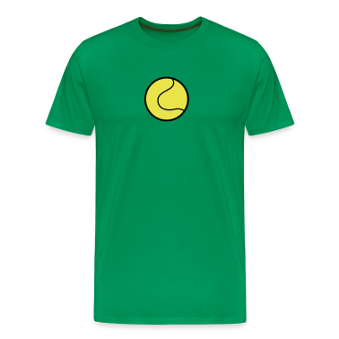 Kelly green tennis ball plain with outline T-Shirts