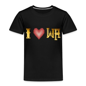 I love WASHINGTON state - Toddler Premium T-Shirt