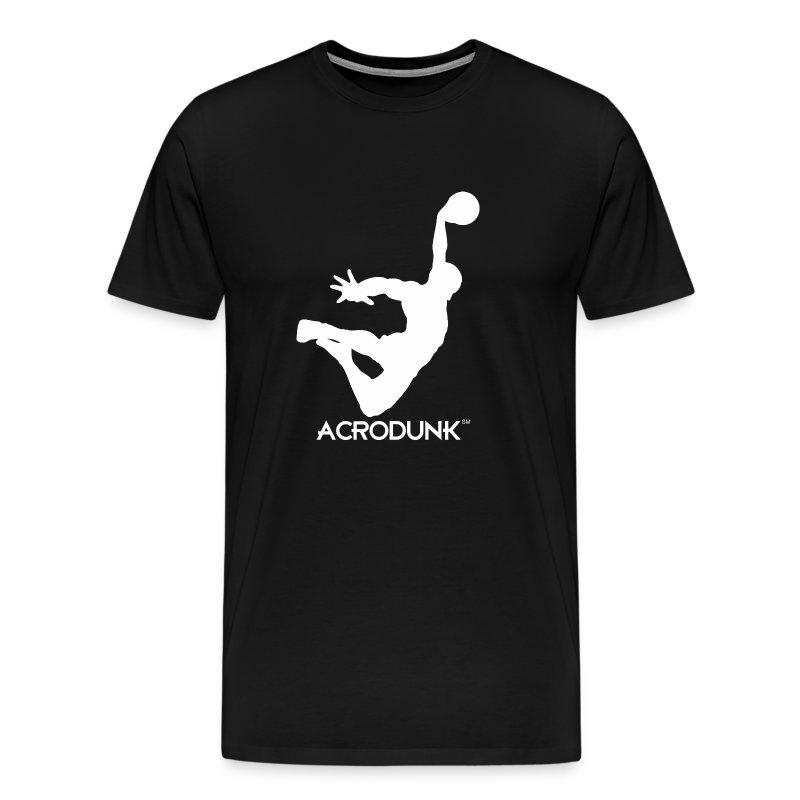 ACRODUNK white logo tee - Men's Premium T-Shirt