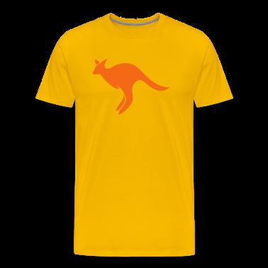 Yellow jumping kangaroo Australia  T-Shirts