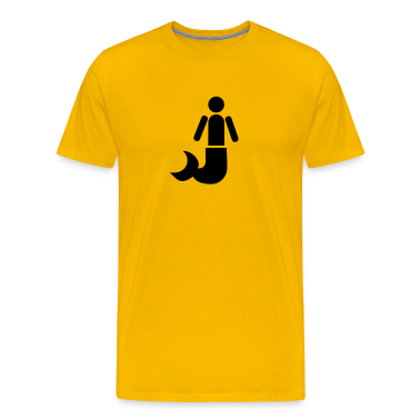 Gold Simple MERMAN not a mermaid! T-Shirts