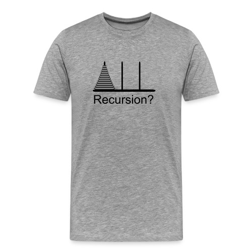 Hanoi Recursion 3XL (on Choice) - Men's Premium T-Shirt