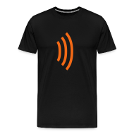 T-Shirts ~ Men's Premium T-Shirt ~ black heavyweight tee shirt with radio wave on front, soundwave on back