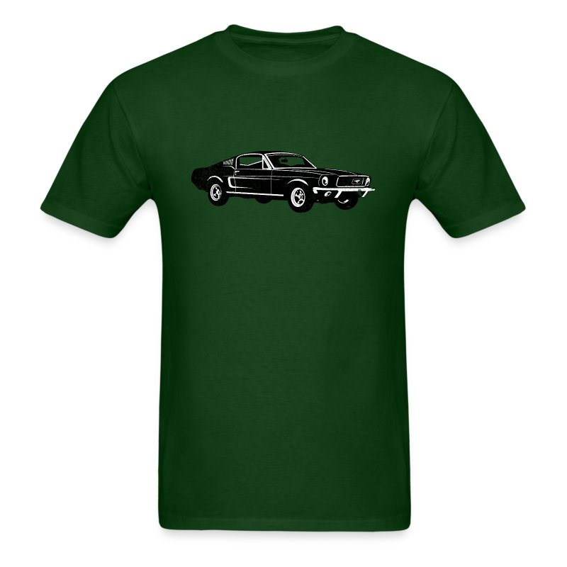 Ladies Size Ford Mustang Design T Shirt Tee Shirt Pony Tri: 1968 Ford Mustang Fastback T-Shirt