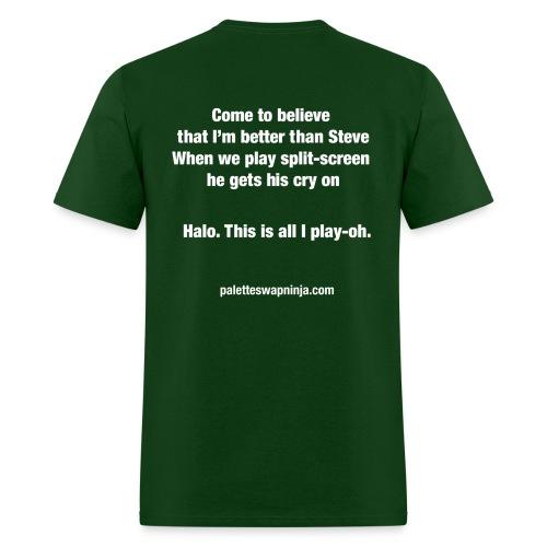 Palette-Swap Ninja - Halo lyric dark - Men's T-Shirt