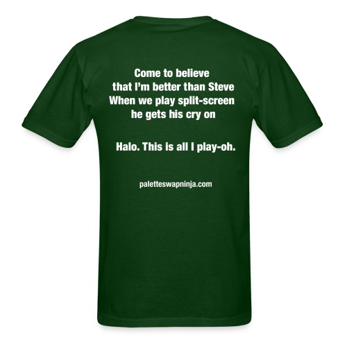 Palette-Swap Ninja - Halo lyric dark - Men's T-Shirt