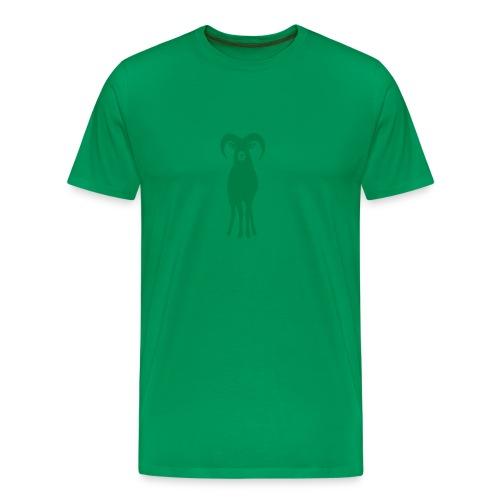 t-shirt sheep goat mountain ram horn horns aries jumbock bighorn buck billy goat animal - Men's Premium T-Shirt