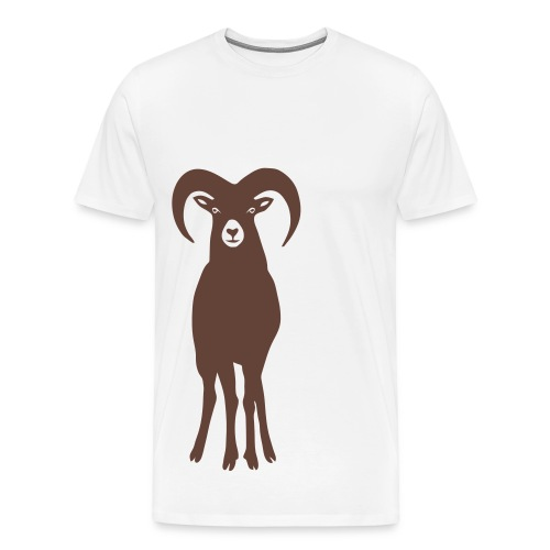 t-shirt sheep goat mountain ram horn horns aries jumbock bighorn buck billy goat animal - Men's Premium T-Shirt