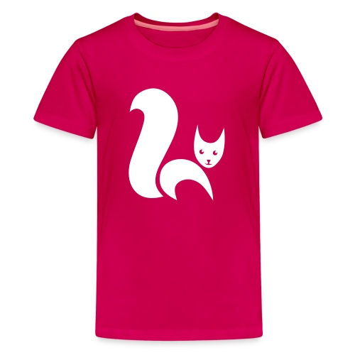 t-shirt fox foxy cat squirrel pussy kitten readhead tail chipmunk animal forest - Kids' Premium T-Shirt