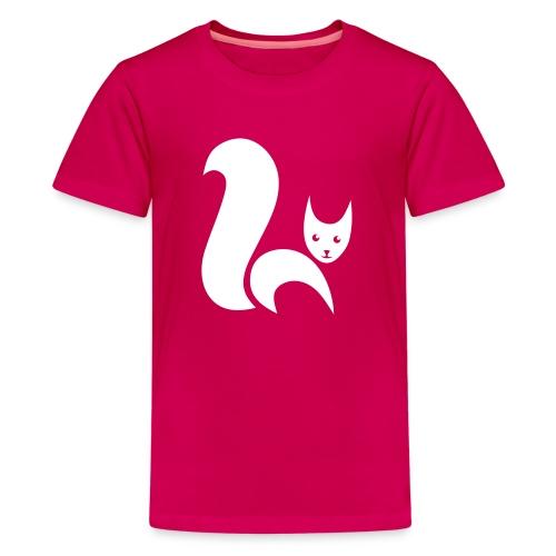t-shirt fox foxy cat squirrel pussy kitten readhead tail chipmunk animal forest - Kids' Premium T-Shirt