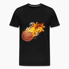 Flaming Basketball T-Shirts
