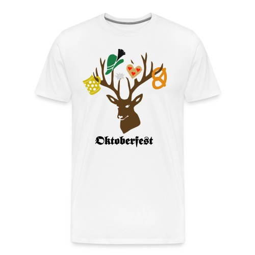 t-shirt oktoberfest bavaria munich germany stag party beer pretzel edelweiss T-Shirts - Men's Premium T-Shirt