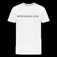 T-Shirts ~ Men's Premium T-Shirt ~ Nubreaks.com White w/ Black Trim Front/Back Mens Heavyweight Tee