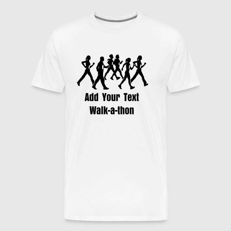 Custom add your own text walk a thon or walkathon t shirts for Custom t shirts add photo