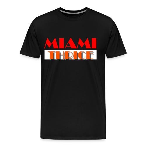 Miami Thrice - Black - Men's Premium T-Shirt